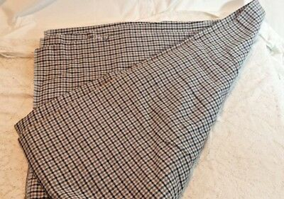 "Vintage 100% Wool Fabric (Made in France) Plaid Checkered 54"" by 111"""