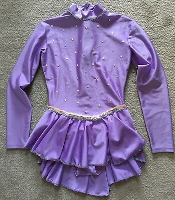 Girls Ice-Skating Competition Dress In Purple, Size 8-10 y.o.