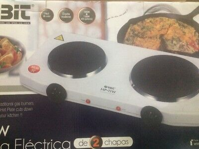 Table Stove / hob with 2 hot plates, 2500 Watts, white