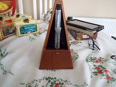 Metronome Classic Wooden Pyramid Style Adjustable Speed