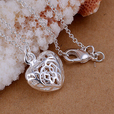 New Solid 925 Silver Jewelry Necklace Xmas Gift