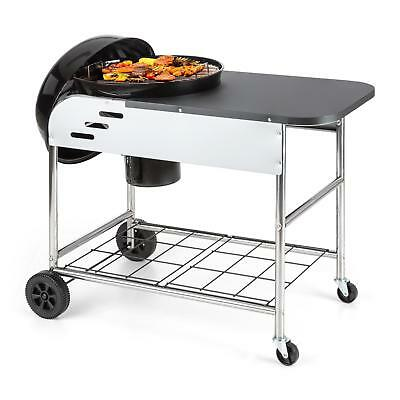 Charcoal Grill Station Portable Bbq Meat Chicken Steel Large Area Storage Cart