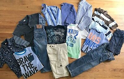 Splendid Lucky Brand Crewcuts Boys 6-7 LOT Polo Shirts Sweater Jeans Graphic Tee