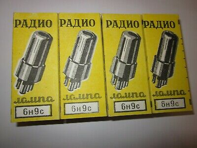 New Soviet 6N9S Double Triode  Tubes 2 Pcs Tested