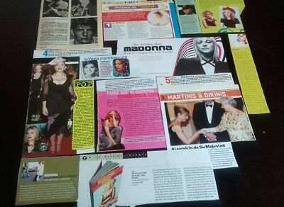 Madonna Clippings Collection From Spain! 50+ Pieces! Lote Recortes
