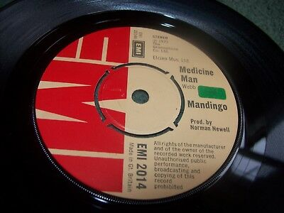 "Mandingo - Medicine Man 7"" single first pressing UK issue from 1973 on EMI 2014"