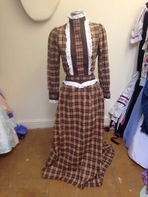 Ex-Hire Brown Victorian Style Oklahoma Frontier Dress Costume