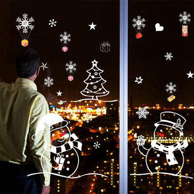 c Xmas Shop Decorations For Home Window Sticker Decals DIY