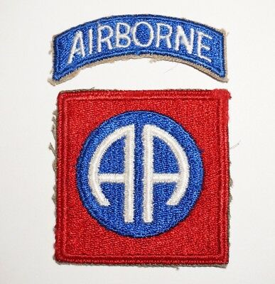 82nd Airborne Division Patch With Tab WWII US Army P5191