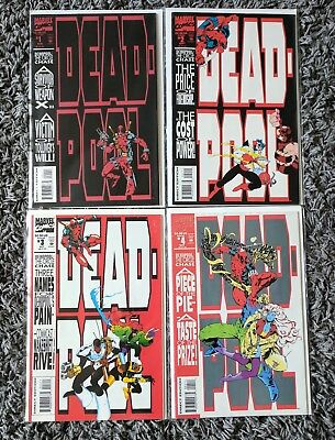 Deadpool: The Circle Chase #1, 2, 3, 4 (1993) Marvel VF+ to VF/NM