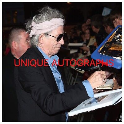 Keith Richards Personally Signed Photo, The Rolling Stones, Proof Shown, 1