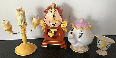 Disney Beauty and the Beast Cogsworth, Lumiere, Mrs Potts and Chip Figure Set