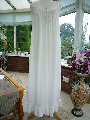 Vintage Kayser White Nylon Nightie Nightdress Gown 16-18