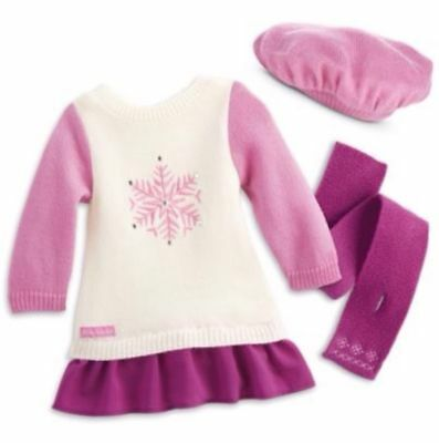 NIB American Girl Snow Good to See You Outfit - Beret Hat, Scarf, Outfit Retired