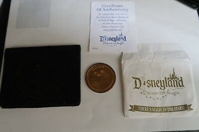 Disneyland 45 Years of Magic Exclusive Collectors' Coin 2000 Disney Travel Co.