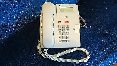 3x Nortel Networks T7100 Display Phone System - Platinum - White CLEAN & TESTED!