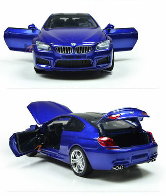 BMW M6 Alloy Diecast 1:32 Car Model Sound & Light Kids Toys & Collection Blue
