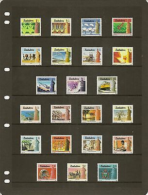 Zimbabwe 1985-97 Substantially Complete Mnh Colln On Hagners (217)