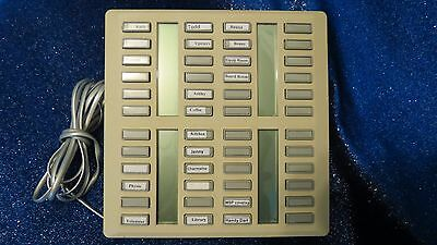 Nortel Norstar Meridian NT8B41FA-35 48 Line C.A.P. (KLM) Key Lamp Module TESTED!