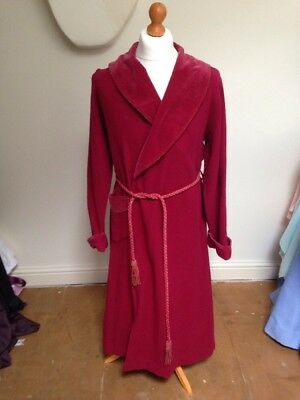 Ex-Hire Red Victorian Edwardian Men's Dressing Gown Scrooge Dickens Costume