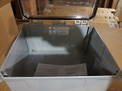 Integra H12106HC-6P Clear Cover, PolyCarb enclosure, Hinged, 4-Screw