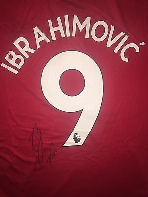 Zlatan Ibrahimovich Personally Signed 17/18 Manchester United Shirt, 1