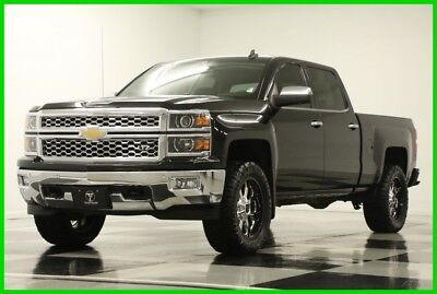2015 Chevrolet Silverado 1500 4X4 LTZ Lifted GPS Leather Black Crew 4WD Used Navigation Heated Cooled 33 In Nitto Grappler Tires 16 2016 17 15 Cab 20 XD