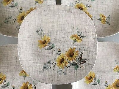 J And G Meakin Summertime dinner plates x 7