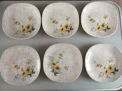 J And G Meakin Summertime side plates x 6