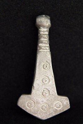 Lovely Viking Solid Silver Amulet Pendant! Symbolic. Ready For Use!  1V12