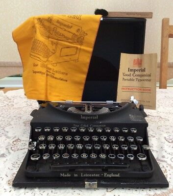 """Vintage Antique Imperial """"The Good Companion"""" Typewriter"""