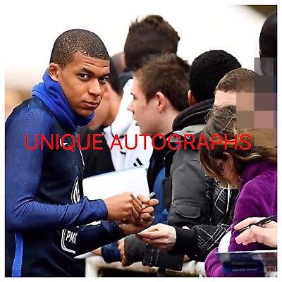 Kylian Mbappe Personally Signed Photo, France, PROOF, 1