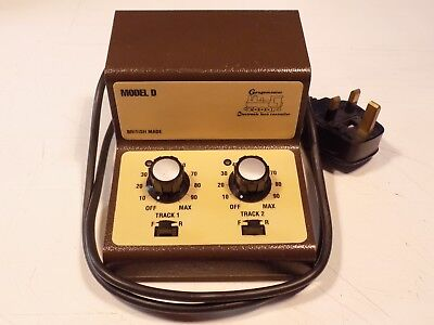 Gaugemaster Model D Twin Train Controller Power Unit, Tested, For 2 Track Lanes
