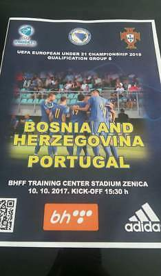 Bosnia v Portugal U21 official match day programme