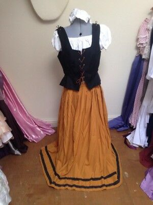 Ex-Hire Black Yellow Wench Peasant Medieval Costume