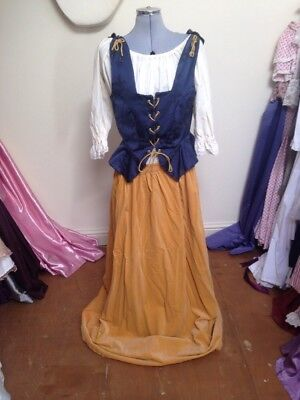 Ex-Hire Blue Yellow Wench Peasant Medieval Costume