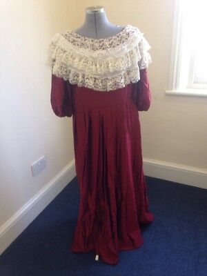 Ex-Hire Red Edwardian Style Dress