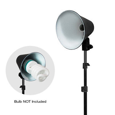 """6.5"""" Photography Continuous Light Head Reflector w/ 86"""" Photo Studio Light Stand"""