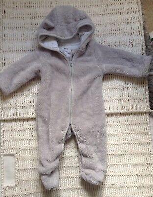 Brand New The Little White Company Snowsuit 0-3 Mths