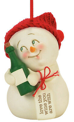 Department 56 Snowpinions — Love the Wine You're With Christmas Ornament 4057425