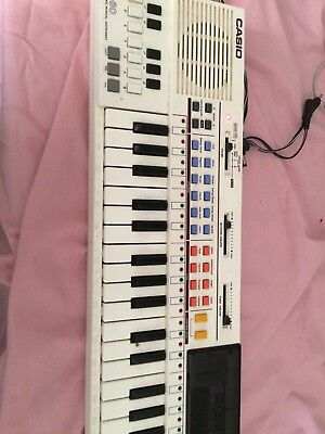 VIntage 80's Casio PT-1 Electronic Sythesizer Keyboard + ROM CARD!
