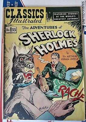 Classics Illustrated  #33 Sherlock Holmes Hrn 53 2Nd Edition No Reserve