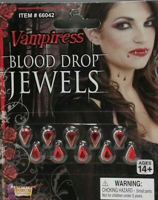 Vampire Blood Drop Jewels Costume Accessory Self Adhesive CLEARANCE