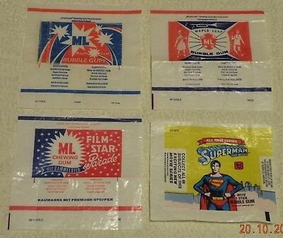 bubble gum,chewing gum MAPLE LEAF + SUPERMAN 4pcs.