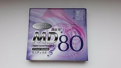 CLEAR MD 80 minidisc,  made in japan, very rare!