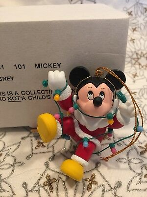 Disney Grolier Mickey Mouse Tangled in lights Christmas Magic ornament