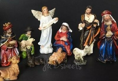Nacimiento Niño Dios Christmas Nativity Set Figurines Decoration Birth Of Jesus