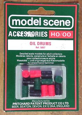 Model Scene 5067 Oil Drums 00 Gauge Model Railway Accessories Suit Hornby