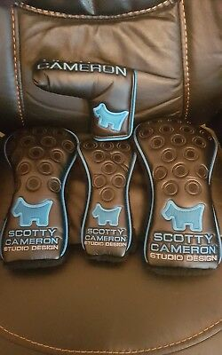 Scotty Cameron ballistic blue headcover set