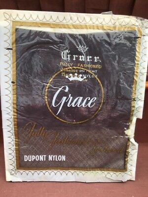 Vintage 1940/50 Stockings,Grace , Diamond Knit Fully Fashioned Unworn Unopened